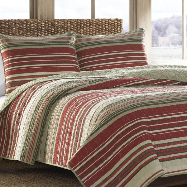 Eddie Bauer Yakima Valley Red Quilt Set
