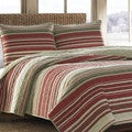 Eddie Bauer Yakima Valley Red 3-piece Quilt Set