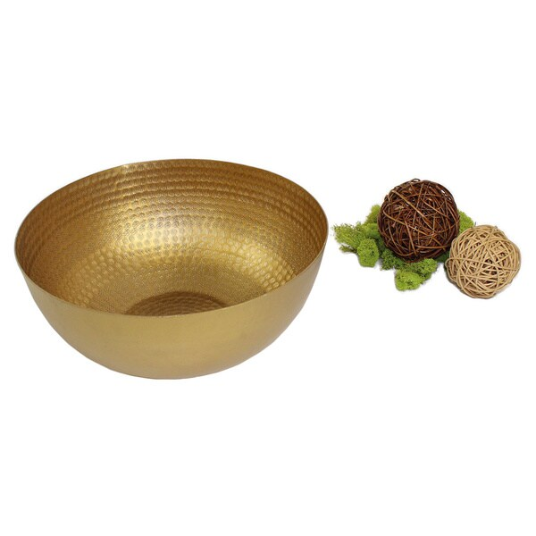 12-inch Elegant Brass Medium Deep Bowl