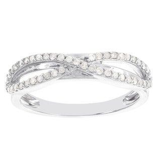 H Star Sterling Silver 1/4ct TDW Diamond Infinity Ring (H-I, I1-I2)