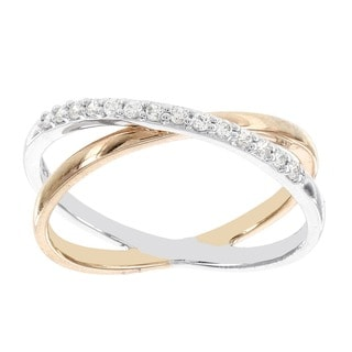 H Star 14k White and Rose Gold 1/6ct TDW TDW Diamond Fashion Ring (I-J, I2-I3)