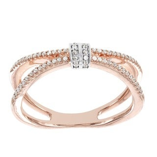H Star 14k Rose Gold 1/5ct TDW Diamond Fashion Ring (H-I, I1-I2)