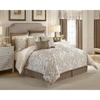 Croscill Madeline Ivory/Taupe Damask 4-piece Comforter Set