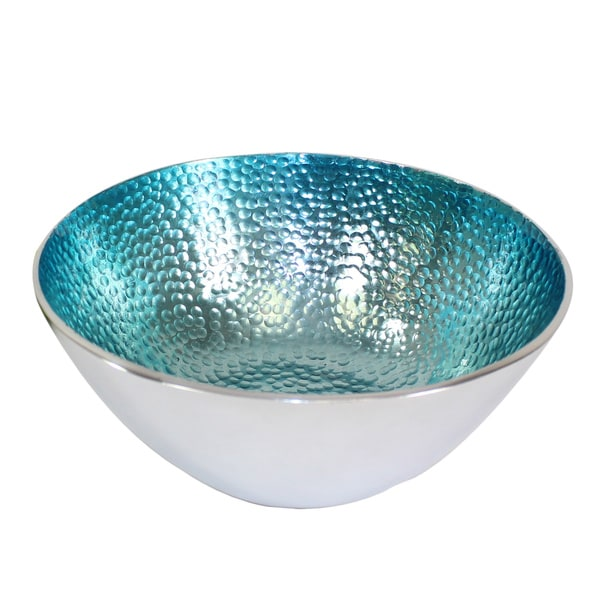 Small Round Teal Bowls (Set of 3)
