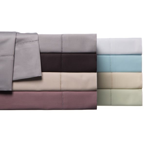 Hemstitch 100-percent Egyptian Cotton 800 Thread Count Sheet Set or Pillowcase Separates
