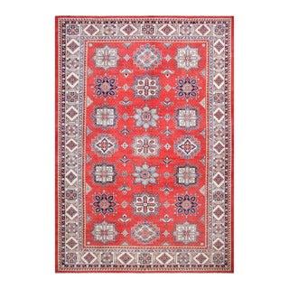 Herat Oriental Afghan Hand-knotted Tribal Vegetable Dye Super Kazak Red/ Ivory Wool Rug (10'1 x 14'8)
