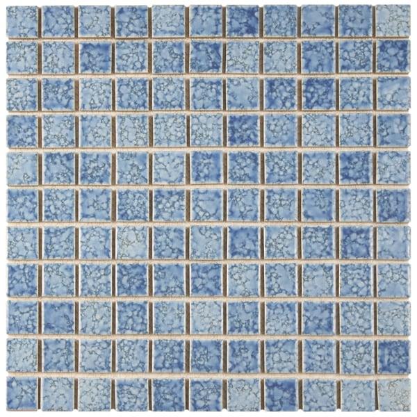 Somertile 12x12 inch reservoir blue porcelain mosaic floor for 10 inch floor tiles