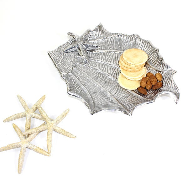 Coastal Sealife Shell Silver Server