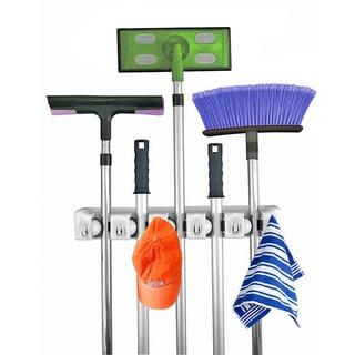 Home-It 5-position Mop and Broom Holder
