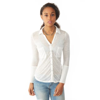 Alternative Women's Vintage White Everyday Button-Up