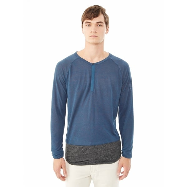 Alternative Eco-Splash Shirttail Long Sleeve Henley