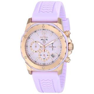 Bulova Women's Marine Star Pink Dial Pink Rubber Strap Chronograph Watch 98m118