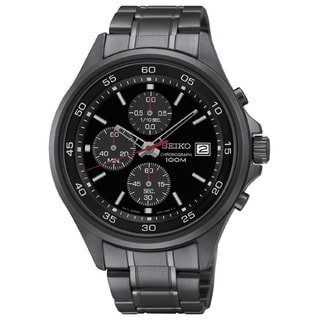 Seiko Men's SKS493 Stainless Steel Black Dial Chronograph Watch