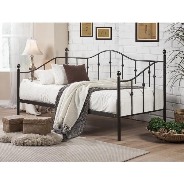 baxton studio jolin chic antique dark bronze twin size. Black Bedroom Furniture Sets. Home Design Ideas
