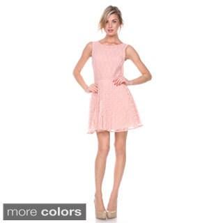 Stanzino Women's Sleeveless A line Lace Dress
