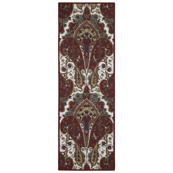 Red Paisley Wave Runner (2.5' x 8') 15800433