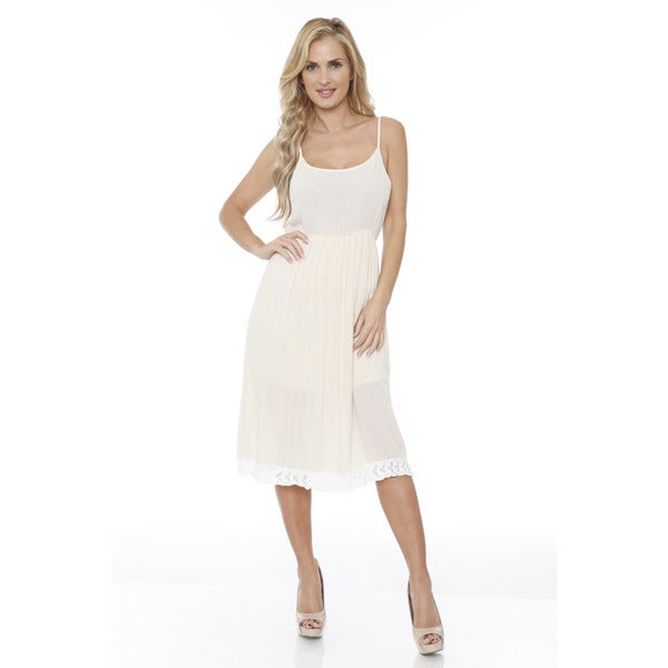 Women's Laced Bottom Tank Dress