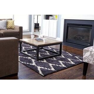 Asti Hand-tufted Grey/ Brown Bamboo Viscose and Jute Diamond Area Rug (8' x 10')
