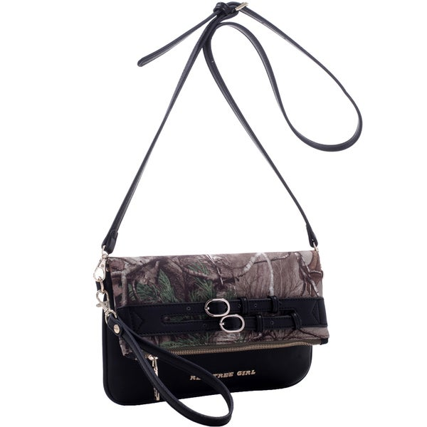 Realtree Girl Fold-over Clutch Messenger Bag