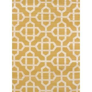 Visions Emilia Gold Multi-texture Accent Rug (2'7 x 4'2)