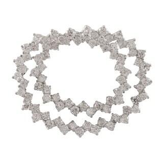 Sterling Silver Cubic Zirconia Circles Pin Brooch