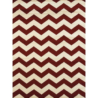 Visions Emerson Red Multi-texture Accent Rug (2'7 x 4'2)