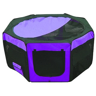Iconic Pet Purple Portable Soft Pet Play Pen