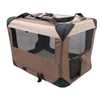 Iconic Pet Multipurpose Khaki Pet Soft Crate with Fleece Mat