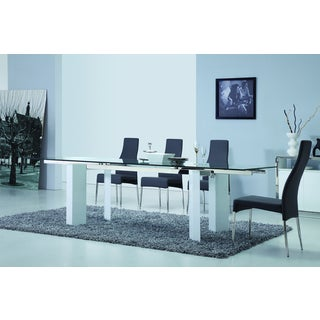 Casabianca Home Torino Collection Metal/ Glass Dining Table