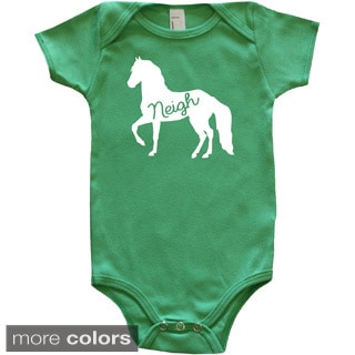 Rocket Bug Farm Animal Silhouette Horse Baby Bodysuit
