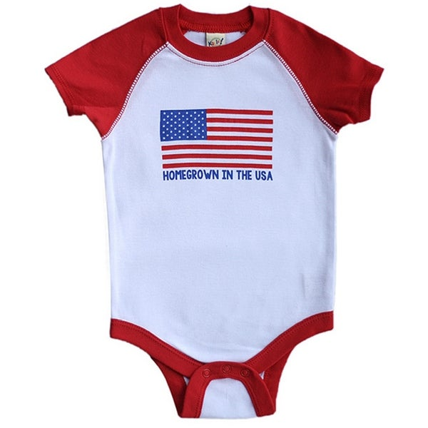 Rocket Bug 'Homegrown in the USA' Baby Bodysuit