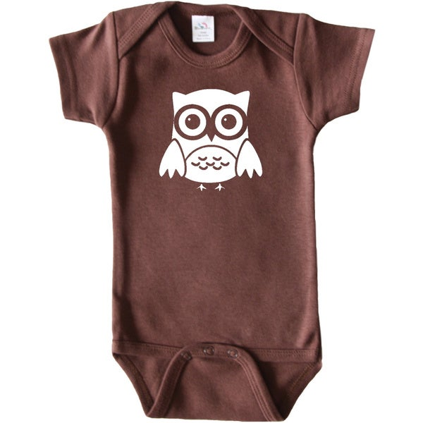 Rocket Bug Woodland Animal Owl Baby Bodysuit
