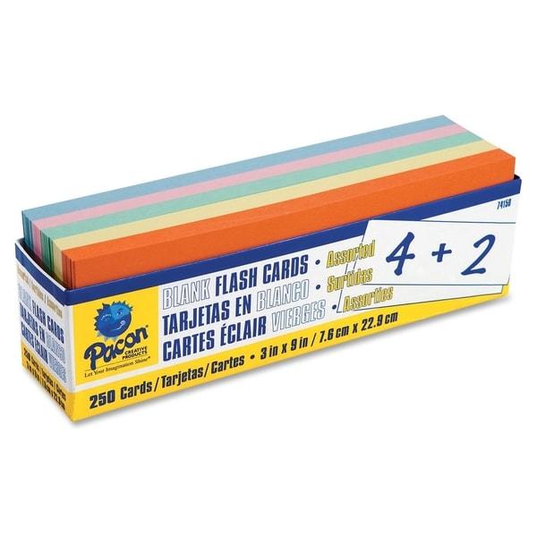 Pacon Blank Flash Card Dispenser Box - 250/PK