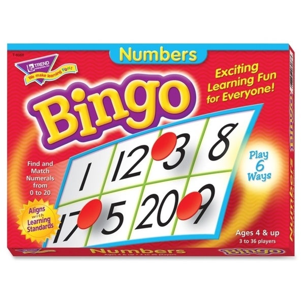 Trend Numbers Learner's Bingo Game - 1/EA