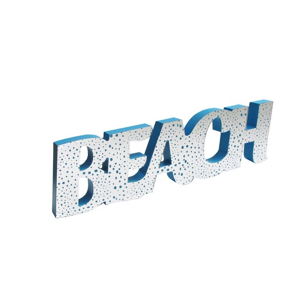 Beach Coastal Blue Mirror Word Art