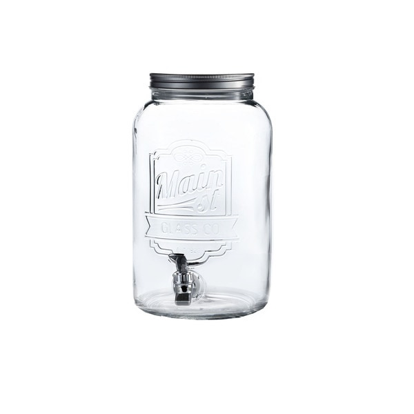 Main Street Embossed 2-gallon Beverage Dispenser
