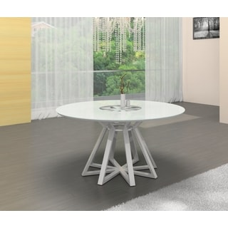 Casabianca Home Star Collection Metal/ Glass Round Dining Table