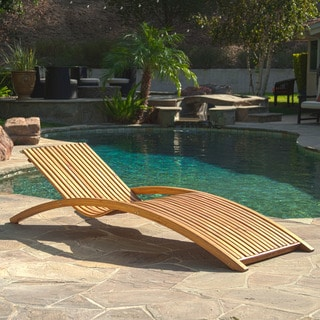 Christopher Knight Home Salinas Outdoor Wood Chaise Lounge
