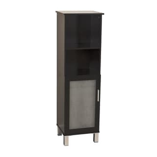 Danya B? Bath Cabinet with Frost Glass Doors - Espresso