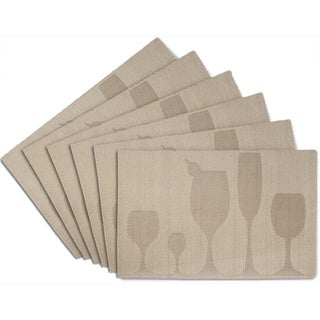 Gold Anti Skid Placemats - Set of 6