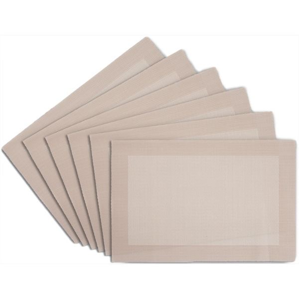 Cream Anti Skid Placemats - Set of 6
