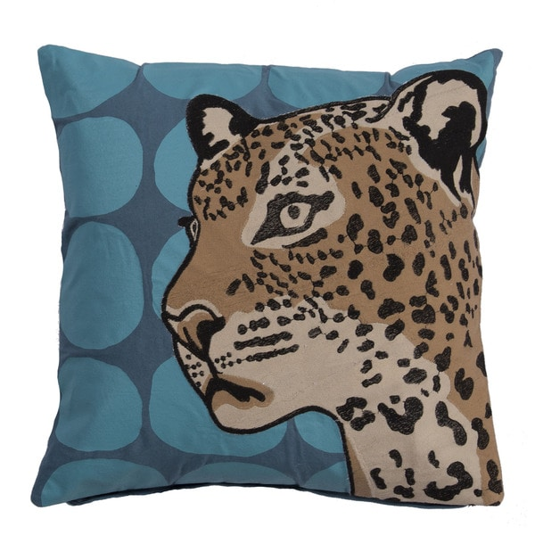 National Geographic National Geographic Animal Pattern Provincial blue/ Blue radience Cotton 18-inch Throw Pillow