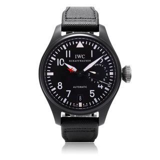 IWC Men's IW501901 'Big Pilot' Automatic Black Canvas Watch