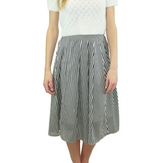 Relished Women's Central Park Striped Midi Skirt