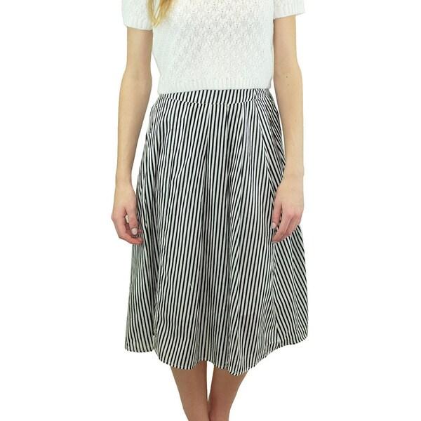 Women's Central Park Striped Midi Skirt