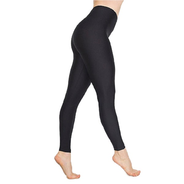 Women's High Waist Black Metallic Leggings