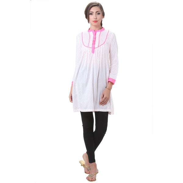 In-Sattva Women's Indian Dot Printed Kurta Tunic 15802039