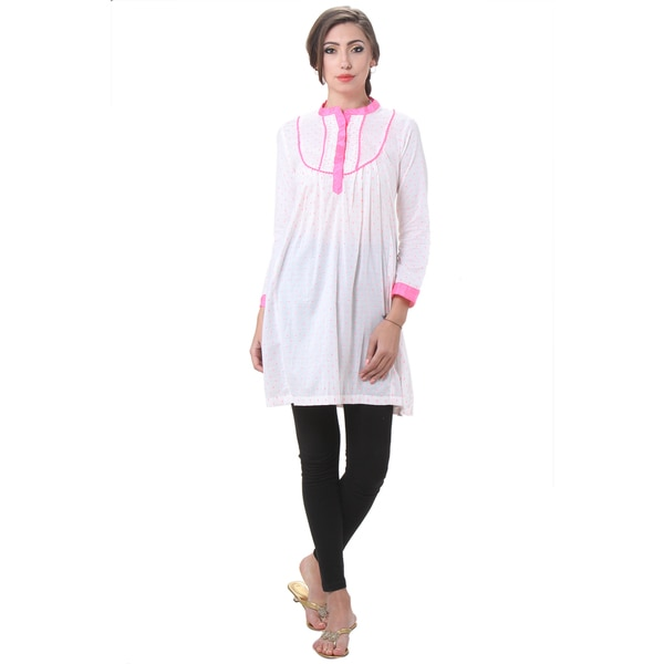 In-Sattva Women's Indian Dot Printed Kurta Tunic
