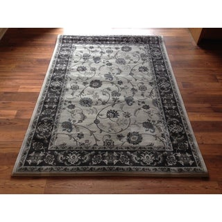 Traditional Grey Persian Floral Area Rug (5'3 x 7'4)
