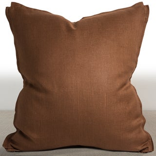 Dorian Cognac Linen 26-inch Feather and Down Filled Luxury Pillow